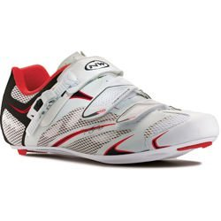 Damskie buty rowerowe szosowe NORTHWAVE Starlight SRS CARBON white / black / red