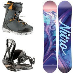 Juniorski zestaw NITRO: snowboard Spirit Youth 2020 + Mini Charger S 2021 + buty Droid QLS |  THE FIRST STEP TO HAPPINESS : )