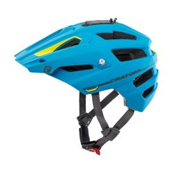 Kask rowerowy CRATONI Alltrack MTB ENDURO blue / lime rubber
