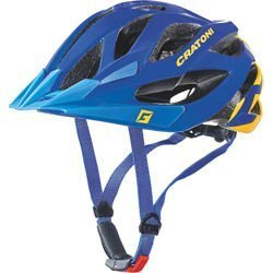 Kask rowerowy CRATONI Miuro + LED 250g! blue glossy