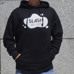 Lekka bluza z kapturem SLASH Snowboards by GIGI Lightweight Hooded Pullover Sweatshirt black
