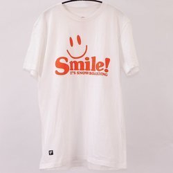 Męska koszulka T-shirt BATALEON Smile it's Snowboarding! white / red