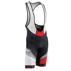 Spodenki rowerowe na szelkach NORTHWAVE Bullet Bib Shorts Hawker AIR | 1h-4h | black / white / red