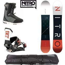 ZESTAW NITRO 2020: snowboard Team GULLWING + wiązania Team ICON + buty Club BOA Dual + torba Cargo Board Bag