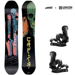 Zestaw snowboard: CAPITA Indoor Survival 156cm + UNION STR camo | 2019