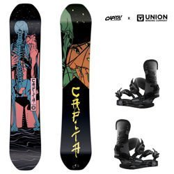 Zestaw snowboard: CAPITA Indoor Survival 158cm + UNION STR camo | 2019