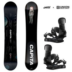 Zestaw snowboard: CAPITA Outerspace Living 159cm WIDE + UNION STR camo | 2019
