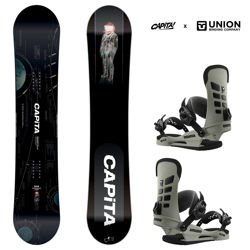 Zestaw snowboard: CAPITA Outerspace Living 159cm WIDE + UNION STR stone | 2019
