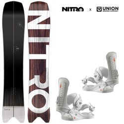 Zestaw snowboard: NITRO Squash + UNION Force white | 2019