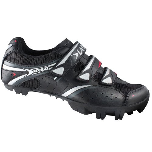 Buty rowerowe LAKE MX160-X MTB Action LEATHER (SKÓRA!) black / silver