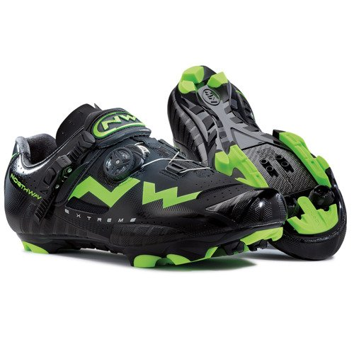 Buty rowerowe NORTHWAVE Extreme Tech MTB 3D CARBON black / green fluo