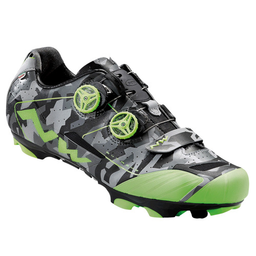 Buty rowerowe NORTHWAVE Extreme XCM CARBON MARATHON refective camo / green fluo