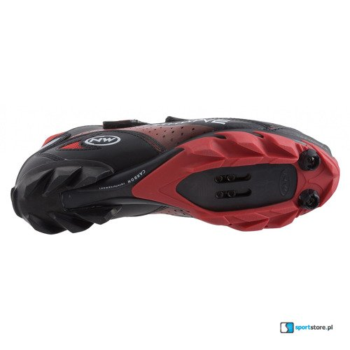Buty rowerowe NORTHWAVE Rebel 3V Jaws CARBON MTB black/red