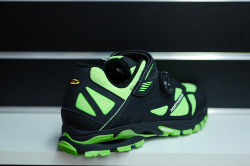 Buty rowerowe NORTHWAVE Spider Plus 2 MICHELIN MTB ENDURO black / green fluo