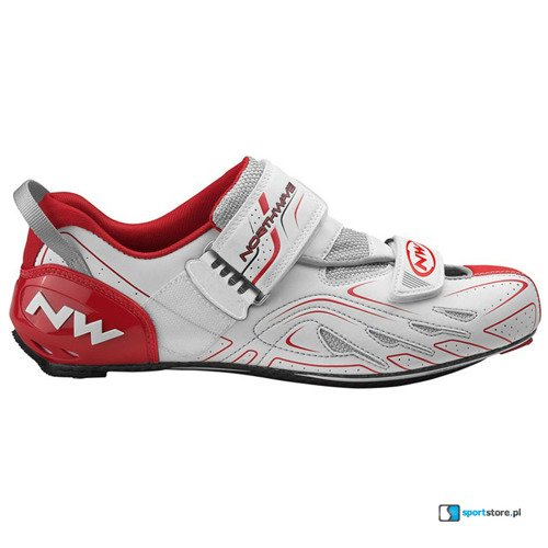Buty triathlonowe rowerowe NORTHWAVE Tribute CARBON white/red