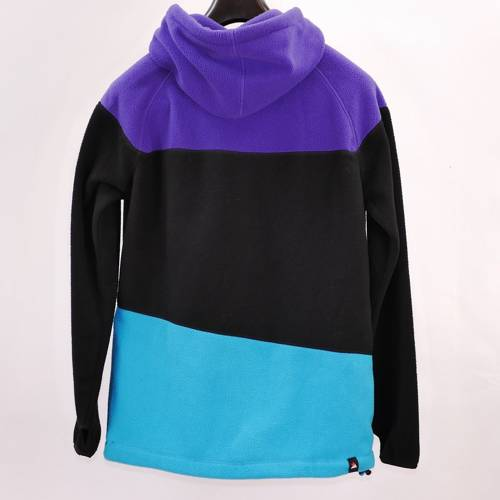 Stylowa rozpinana bluza z polaru ZIMTSTERN blue / black / purple