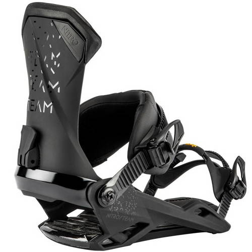 Wiązania snowboardowe NITRO Team Ultra Black 2020 | The Team Favorite Built Tough